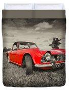 Red Tr4  Duvet Cover