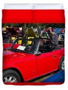 Red Tr6 Duvet Cover