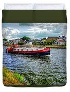 Red Tug Boat Duvet Cover