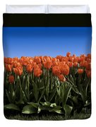 Red Tulip Garden Duvet Cover