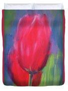 Red Tulips 1 Duvet Cover