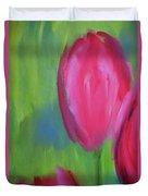 Red Tulips 2 Duvet Cover