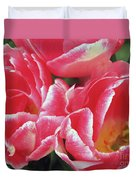 Red Tulips Duvet Cover