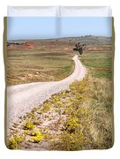 Red Valley Road Duvet Cover