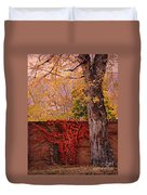 Red Vine With Maple Tree Duvet Cover