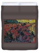 Red Vineyards  Duvet Cover