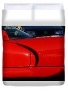 Red Viper Duvet Cover