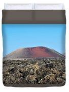 Red Volcano Duvet Cover