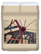 Red Waggon Wheel Duvet Cover