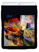 Red Wagon Duvet Cover