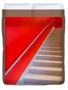 Red Walls Staircase Duvet Cover
