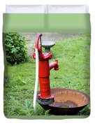 Red Water Pump Duvet Cover