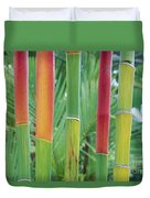 Red Wax Palm Stalks Duvet Cover