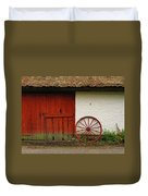 Red Wheel And Barn In Sweden Duvet Cover