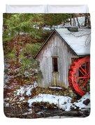 Red Wheel Duvet Cover