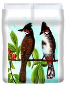 Red-whiskered Bulbul Bird, #246 Duvet Cover