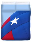 Red White And Blue Balloon Duvet Cover