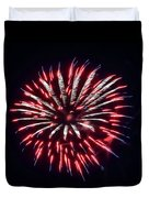 Red White And Blue Fireworks Duvet Cover