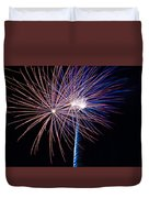 Red White And Boom Duvet Cover