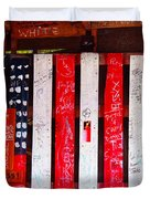 Red White And Fish Shack Duvet Cover