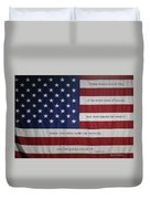 Red White And True Duvet Cover