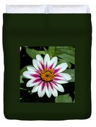 Red White And Yellow Flower Duvet Cover