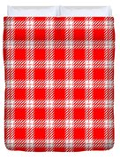 Red White Tartan Duvet Cover