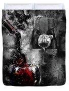 Red Wine 01 Duvet Cover