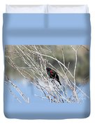 Red Winged Black Bird At Chatfield Duvet Cover