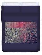 Red Winter Duvet Cover