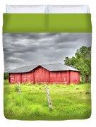 Red Wood Barn - Edna, Tx Duvet Cover