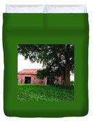 Red Wood Barn Duvet Cover