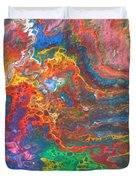 Red Yellow Blue Abstract Duvet Cover