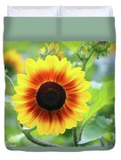 Red Yellow Sunflower Duvet Cover