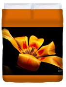 Red-yellow Tulip 1 Duvet Cover