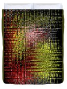 Red Yellow White Black Abstract Duvet Cover