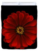 Red Zinnia Duvet Cover