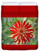 Red Zinnia Duvet Cover