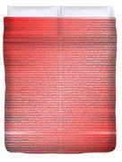Red.4 Duvet Cover