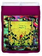 Redbird In The Valley Of Beautiful Possibilities Duvet Cover
