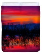 Reddening Sunset Duvet Cover