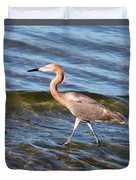 Reddish Egret Wild 2 By Darrell Hutto Duvet Cover