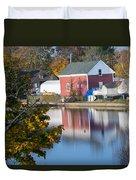 Redd's Pond Boathouse Marblehead Ma Massachusetts Duvet Cover