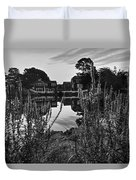 Redd's Pond Lupines Sunrise Black And White Duvet Cover
