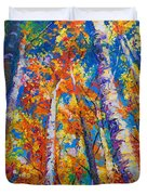 Redemption - Fall Birch And Aspen Duvet Cover by Talya Johnson