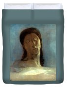 Redon: Closed Eyes, 1890 Duvet Cover