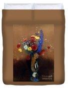 Redon: Wild Flowers, C1912 Duvet Cover