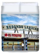Redondo Beach Pier Closeup Duvet Cover