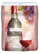 Redwinewatercolor Duvet Cover