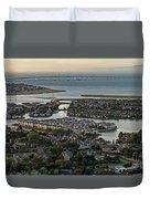 Redwood City, California Aerial Duvet Cover